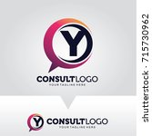 letter y consulting logo...   Shutterstock .eps vector #715730962