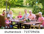 leisure  holidays and people... | Shutterstock . vector #715739656