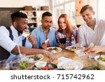 leisure  payment and people... | Shutterstock . vector #715742962