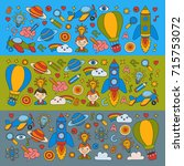 colorful banners vector set of... | Shutterstock .eps vector #715753072