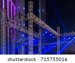 multiple spotlights on a... | Shutterstock . vector #715755016