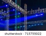 multiple spotlights on a... | Shutterstock . vector #715755022