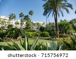luxury marbella property ... | Shutterstock . vector #715756972