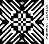 abstract tile with black white... | Shutterstock .eps vector #715761226