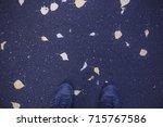 concept walks in autumn | Shutterstock . vector #715767586