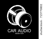 vector car audio icon....
