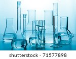 laboratory glassware toned blue | Shutterstock . vector #71577898