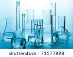 laboratory glassware toned blue | Shutterstock . vector #71577898
