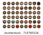 african smile vector drawing | Shutterstock .eps vector #715785226