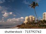 beachfront palms and luxury... | Shutterstock . vector #715792762