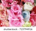 close up of artificial flower... | Shutterstock . vector #715794916