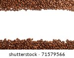 coffee beans stripes isolated... | Shutterstock . vector #71579566