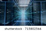 network server room with... | Shutterstock . vector #715802566