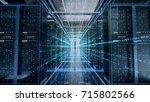 network server room with... | Shutterstock . vector #715802566