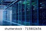 network server room with... | Shutterstock . vector #715802656