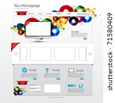 colorful website template with... | Shutterstock .eps vector #71580409