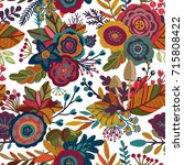 vector seamless pattern with... | Shutterstock .eps vector #715808422