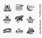 ramadan greetings header.   Shutterstock .eps vector #715811032