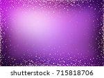 xmas sparks frame. magic violet ...   Shutterstock . vector #715818706