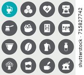 set of 16 drink icons set... | Shutterstock .eps vector #715827742