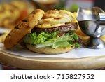 meat begger. | Shutterstock . vector #715827952