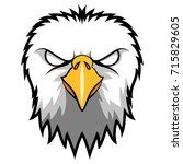 angry eagle head mascot. vector ... | Shutterstock .eps vector #715829605