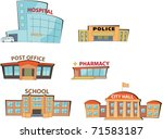 set of the cartoon public... | Shutterstock .eps vector #71583187