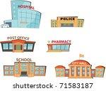 set of the cartoon public... | Shutterstock .eps vector #71583187