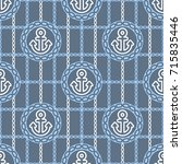 seamless pattern with anchors.... | Shutterstock .eps vector #715835446