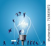 vector illustration of light... | Shutterstock .eps vector #715835872