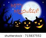 halloween. three night... | Shutterstock . vector #715837552