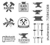 set of vector logotypes... | Shutterstock .eps vector #715841308