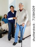 home health care worker and an... | Shutterstock . vector #71584309