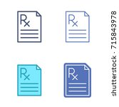 paper sheet with prescription... | Shutterstock .eps vector #715843978