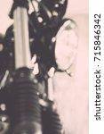 vintage motorcycle  focus...   Shutterstock . vector #715846342