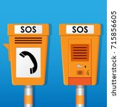 roadside emergency sos... | Shutterstock .eps vector #715856605