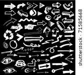 big set of doodled arrows... | Shutterstock .eps vector #71585668