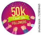 vector banner thank you to the... | Shutterstock .eps vector #715858465