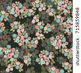 vintage feedsack pattern in...   Shutterstock . vector #715859848