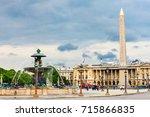 place de la concorde in paris ... | Shutterstock . vector #715866835