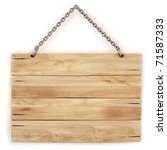 blank wooden sign hanging on a... | Shutterstock . vector #71587333
