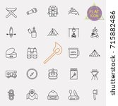 outline web icon set   summer... | Shutterstock .eps vector #715882486