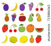 simple colorful illustrations... | Shutterstock .eps vector #715886362