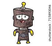 cartoon robot | Shutterstock .eps vector #715893046