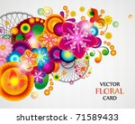 gift card. floral design... | Shutterstock .eps vector #71589433