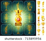 example user interface of game... | Shutterstock .eps vector #715895956