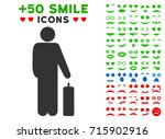 passenger icon with colored... | Shutterstock .eps vector #715902916