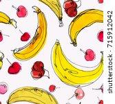 watercolor seamless pattern... | Shutterstock .eps vector #715912042