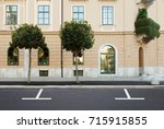 parking lot street road side... | Shutterstock . vector #715915855