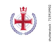 christian cross decorative... | Shutterstock .eps vector #715919902